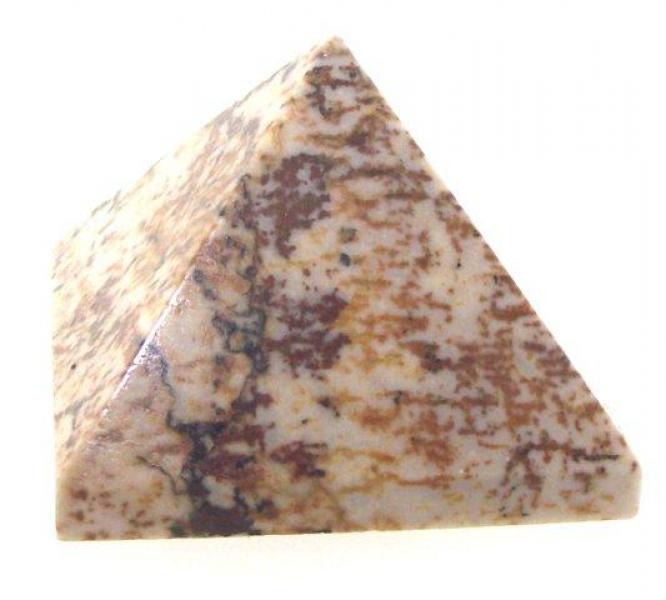 Yellow Jasper Small gemstone Pyramid